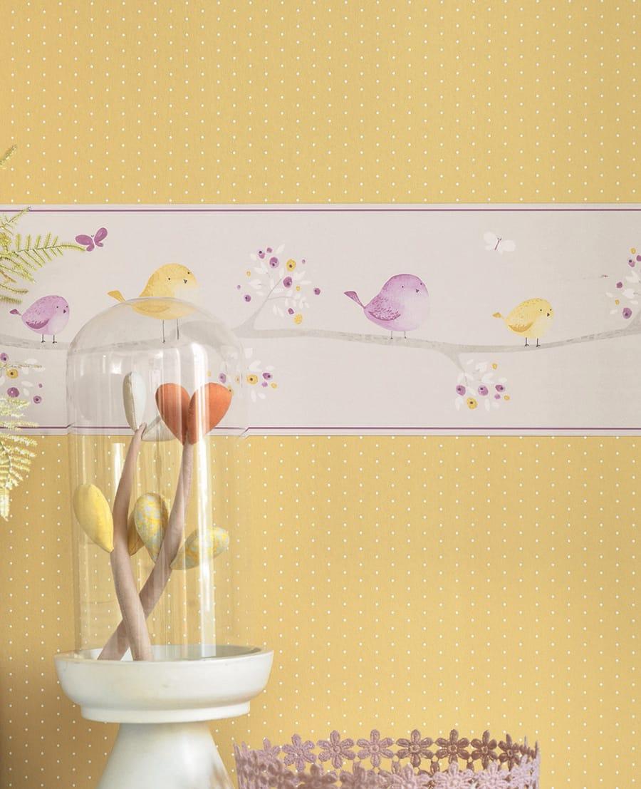 wandgestaltung mit tapeten zirkus, kreative wandgestaltung mit bordüren, Design ideen