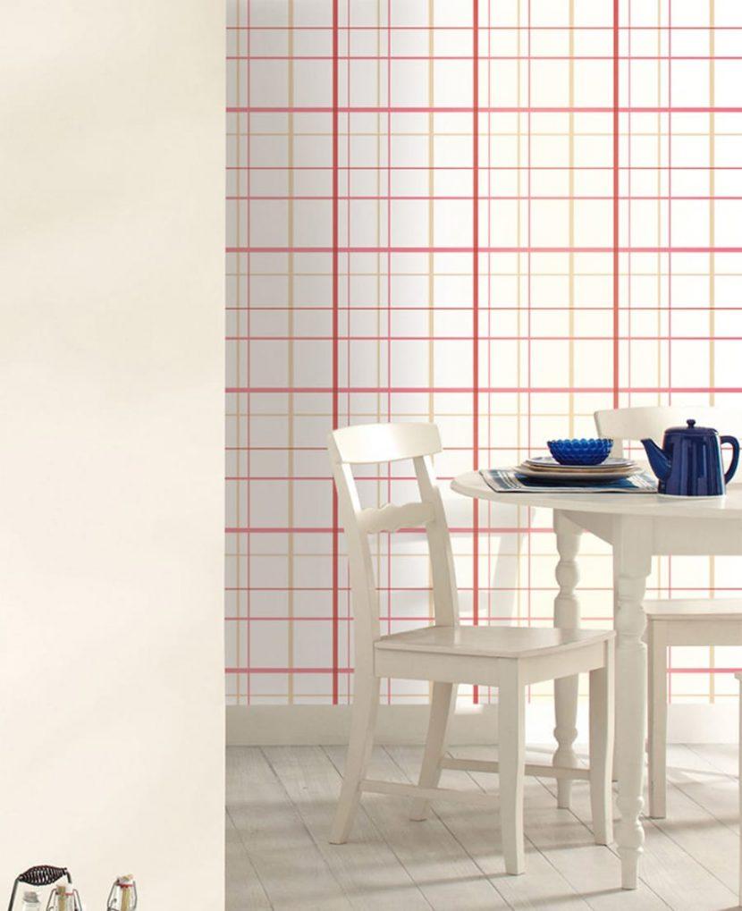 streifen punkte karos mit diesen mustertapeten ist was los. Black Bedroom Furniture Sets. Home Design Ideas