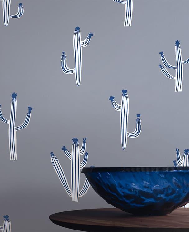AKTION - Tapete Cactus Blau