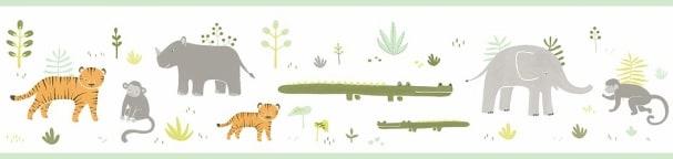 Bordüre Safaris Grün