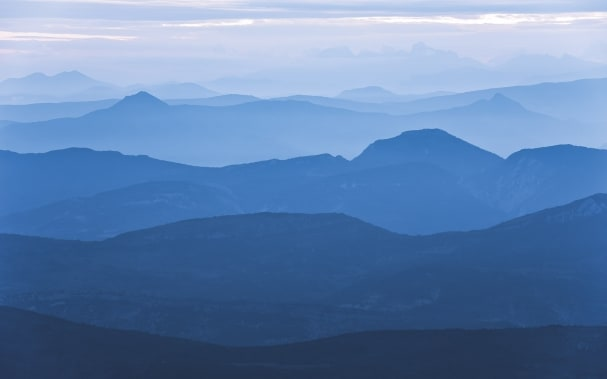 Fototapete Blue Mountain
