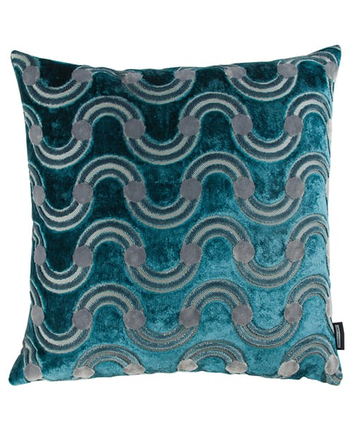 Kissen Spot on Waves Teal - Eley Kishimoto