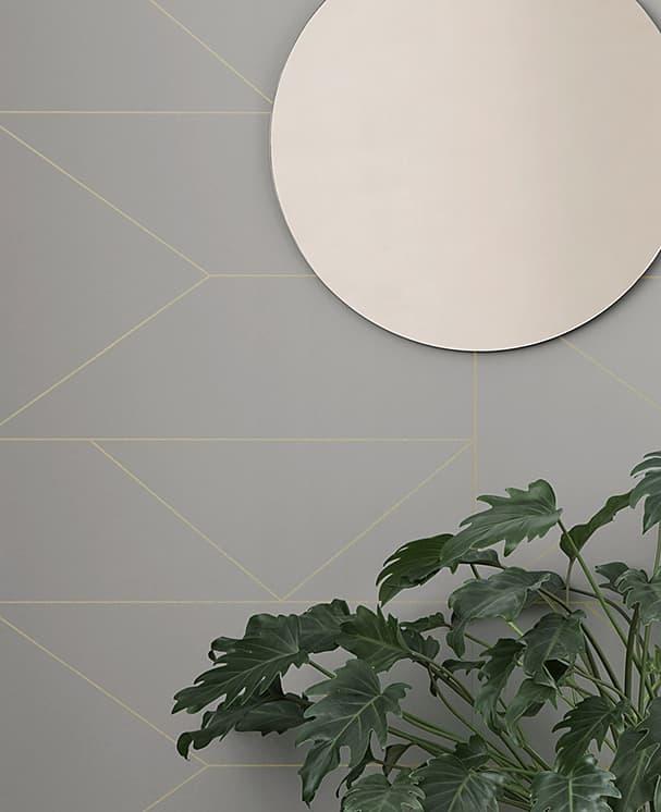 Lines Wallpaper Grau