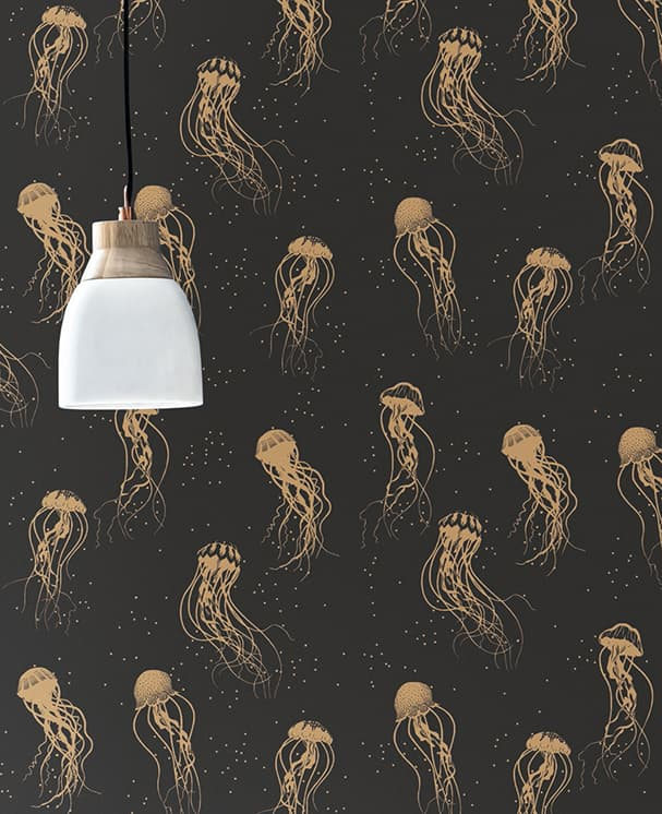 Tapete Jellyfish Anthrazit