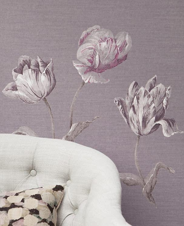 Die tapete nanda violett von rasch textil for Tapete violett