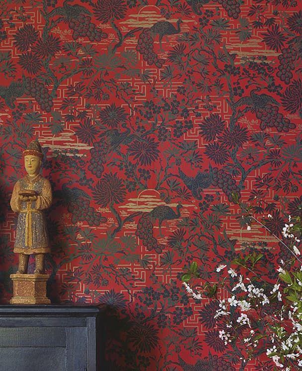 Tapete Orangerie Rot