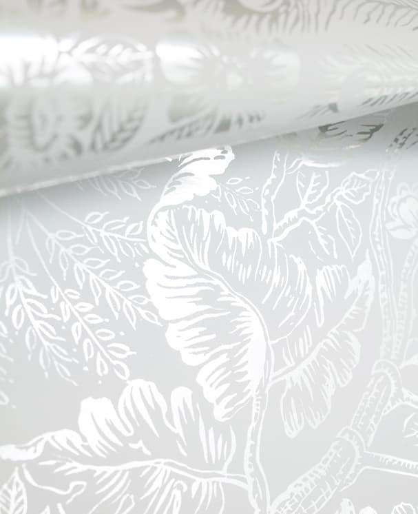 Tapete Peacocks Weiß