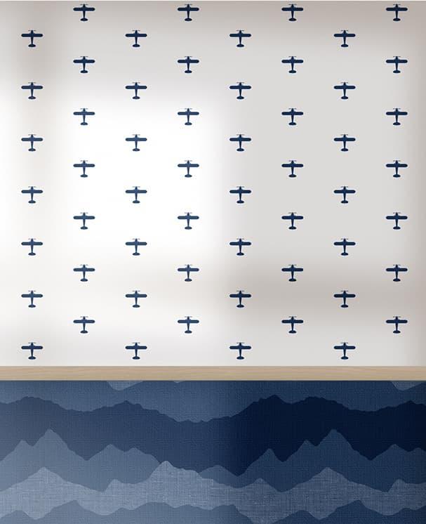 Tapete Plane Blau