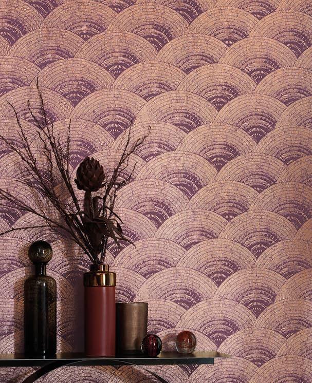 Tapete Radiant Violett