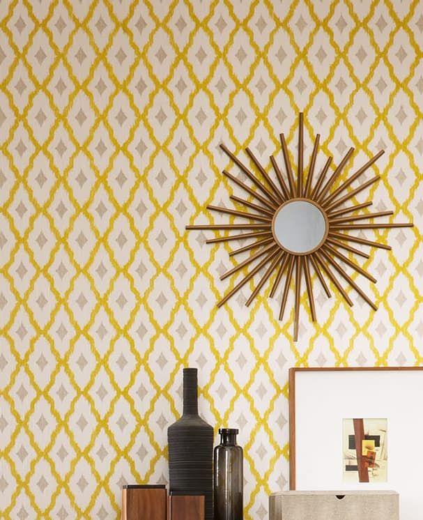 Tapete soria in der farbe gelb von as creation for Tapete gelb