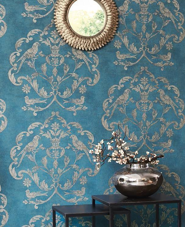 Tapete Versailles Blau