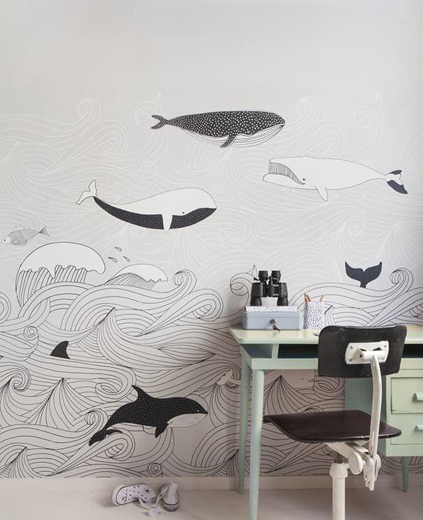 Wandbild Kapperty Grau