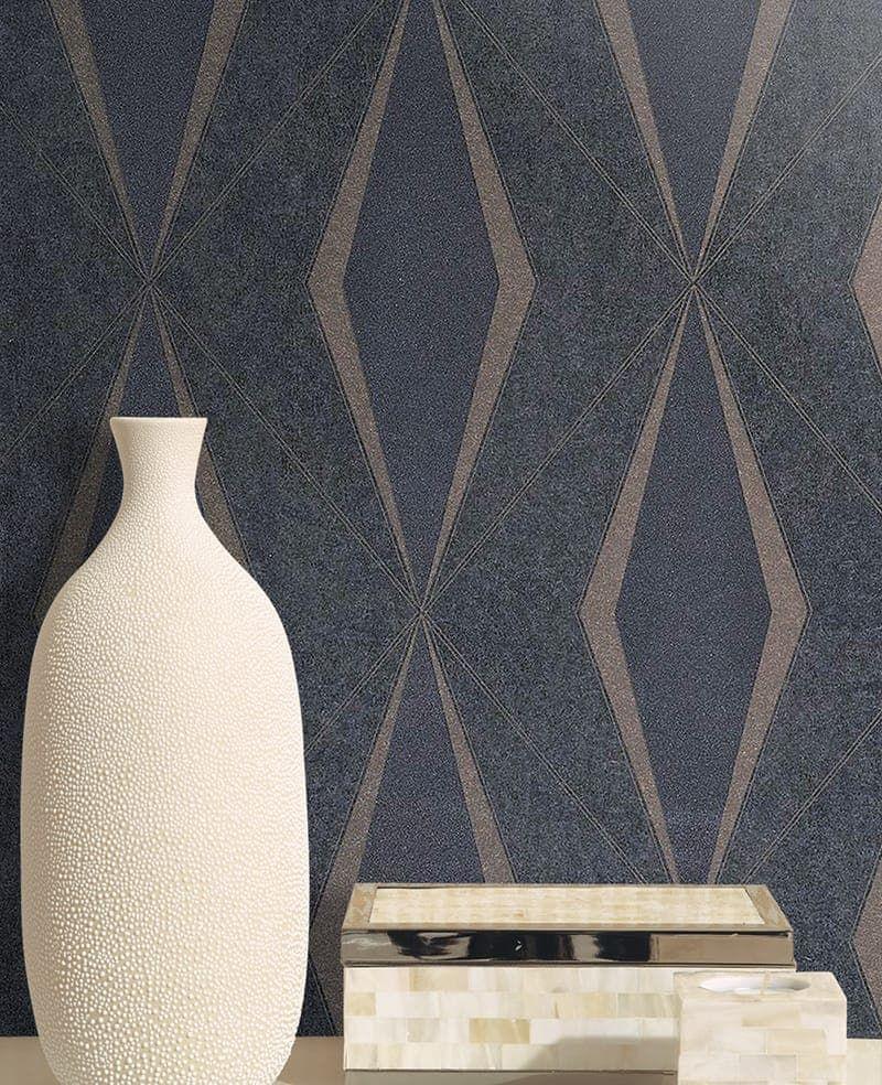 tapete riverdale anthrazit abstract von casamance art. Black Bedroom Furniture Sets. Home Design Ideas