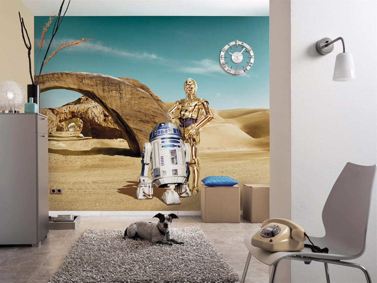 star wars fototapete c 3po r2d2. Black Bedroom Furniture Sets. Home Design Ideas