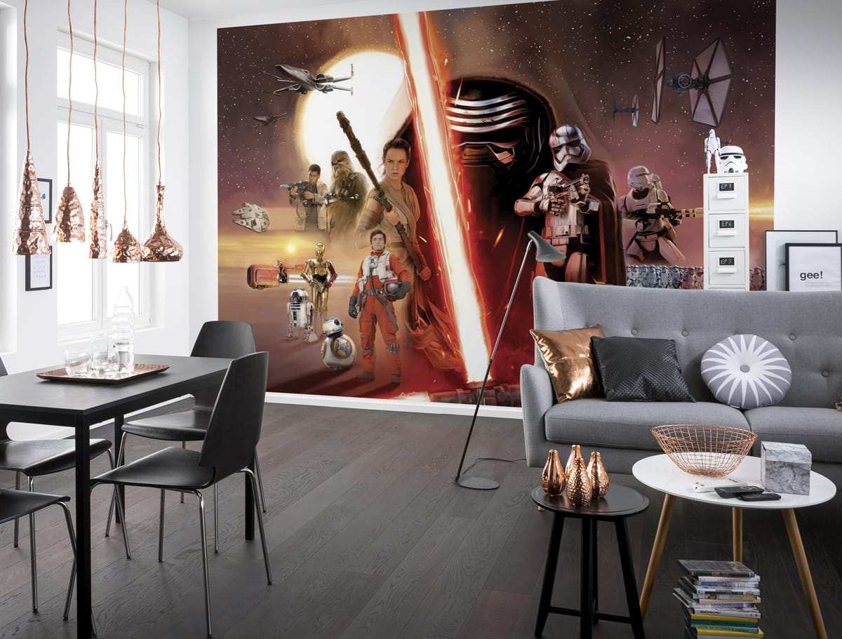 fototapete star wars collage ep7. Black Bedroom Furniture Sets. Home Design Ideas