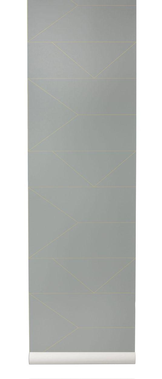 die tapete lines wallpaper grau von ferm living. Black Bedroom Furniture Sets. Home Design Ideas