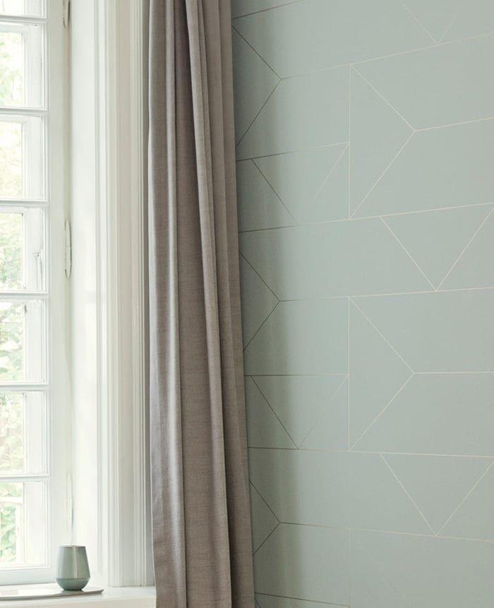die tapete lines wallpaper mint von ferm living. Black Bedroom Furniture Sets. Home Design Ideas
