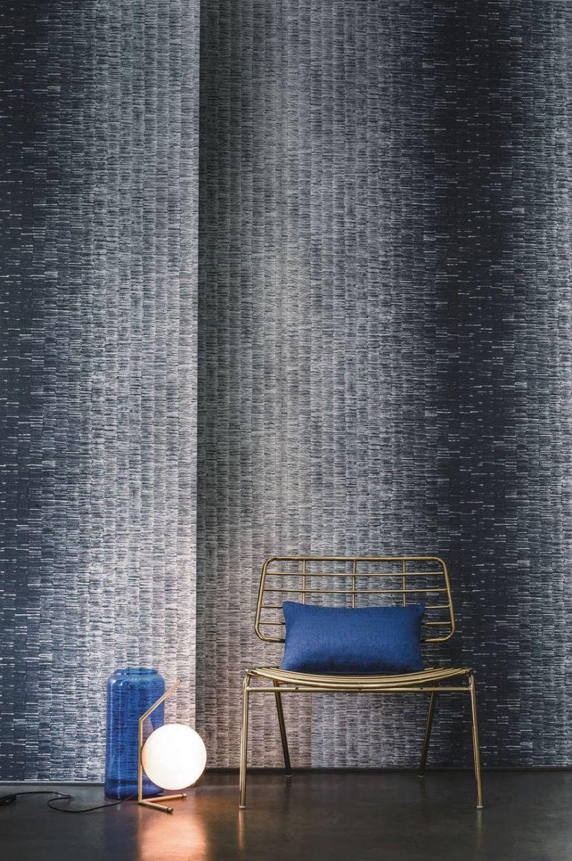 tapete akela blau von casamance. Black Bedroom Furniture Sets. Home Design Ideas
