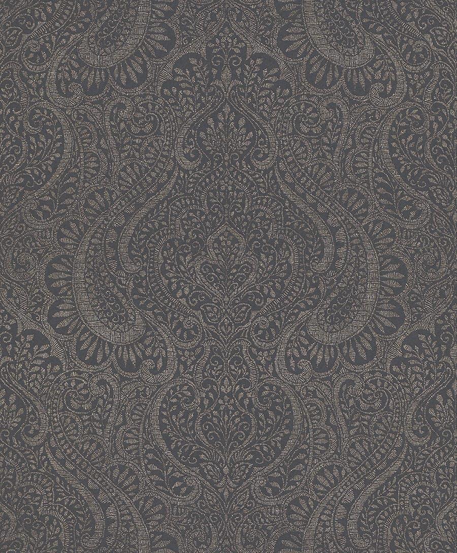 Die tapete arora anthrazit von rasch textil - Anthrazit tapete ...