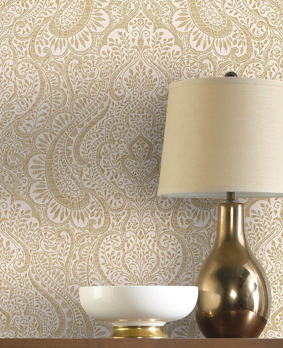 die tapete arora gold von rasch textil. Black Bedroom Furniture Sets. Home Design Ideas
