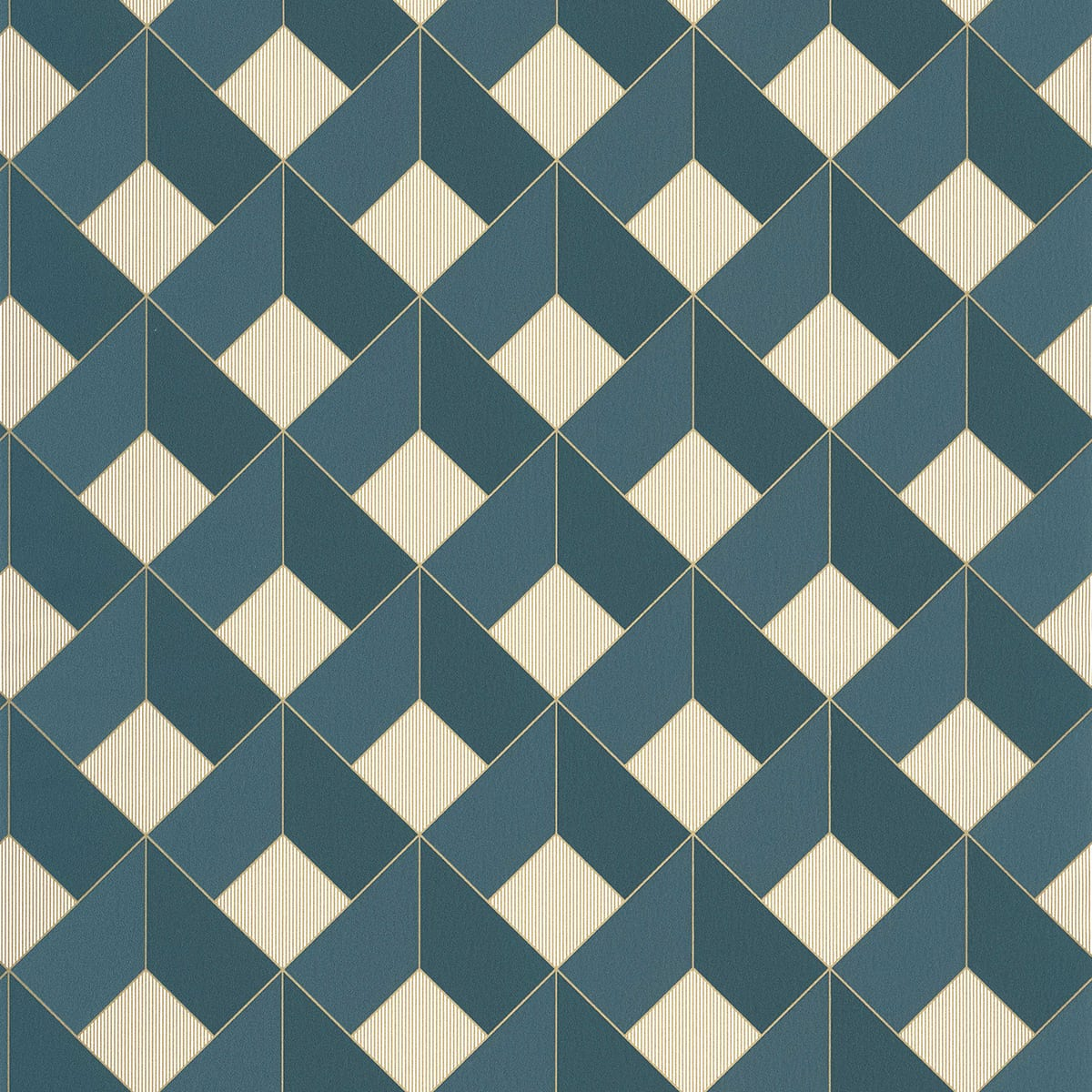Tapete aurora blau von caselio aus der kollektion spaces for Tapete blau