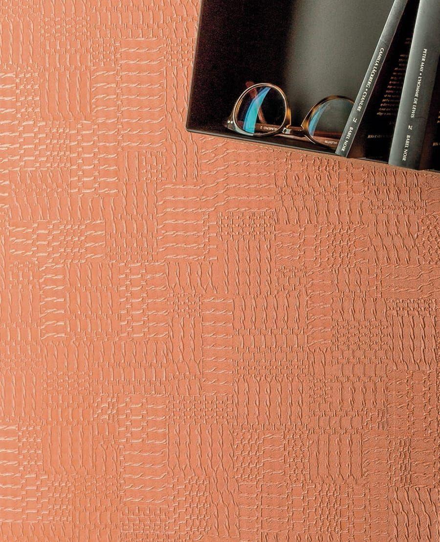 tapete bowly orange von texdecor. Black Bedroom Furniture Sets. Home Design Ideas