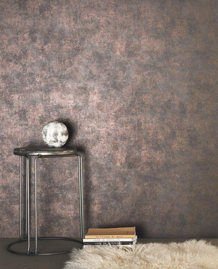 Vliestapete Mit Metallischem Bronzeschimmer