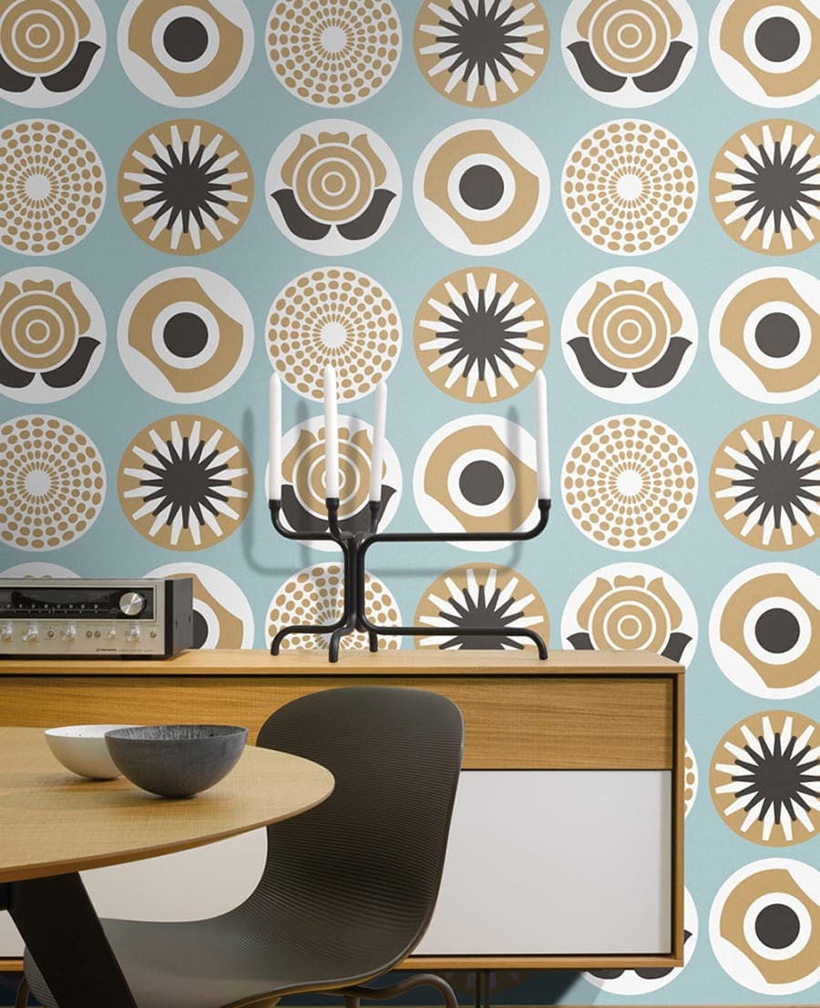 lavmi tapeten clocks blue blau. Black Bedroom Furniture Sets. Home Design Ideas
