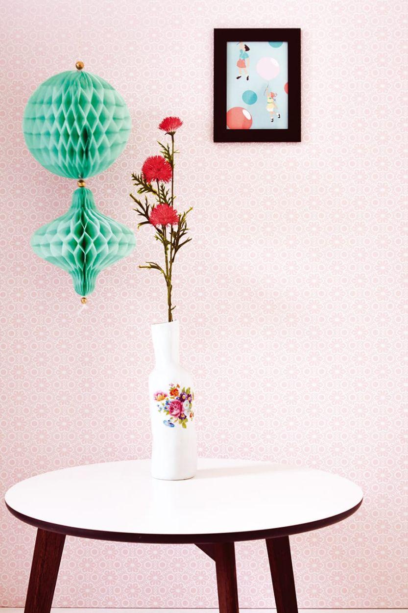 Die tapete corletta rosa von eijffinger for Rosa tapete