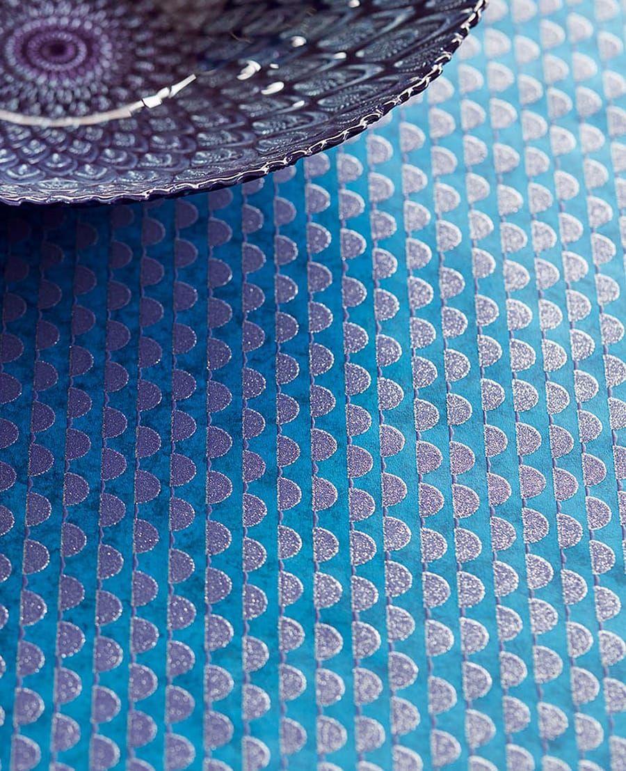 tapete demi blau  11254 0 - Tapete Blau