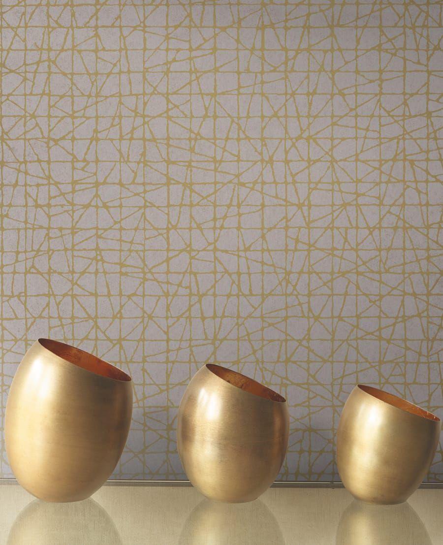 Tapete excentric gold von casadeco for Tapeten in gold optik