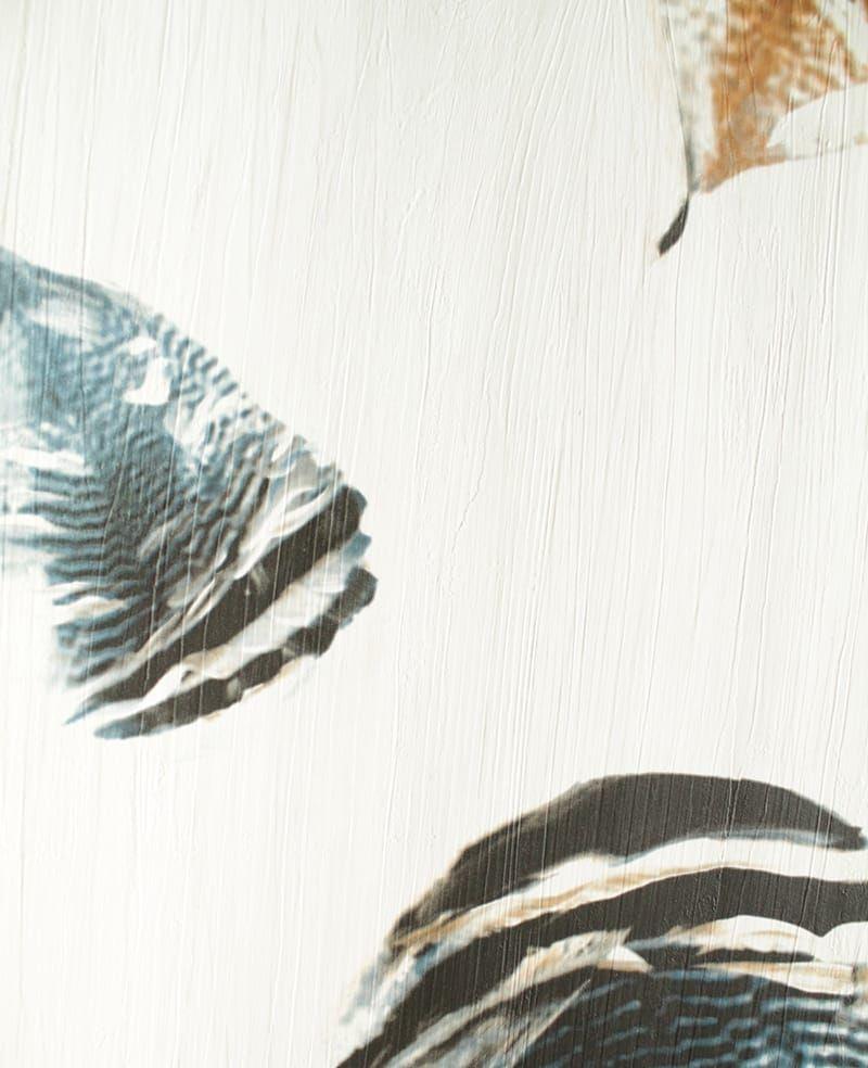 tapete feather dunkelblau. Black Bedroom Furniture Sets. Home Design Ideas