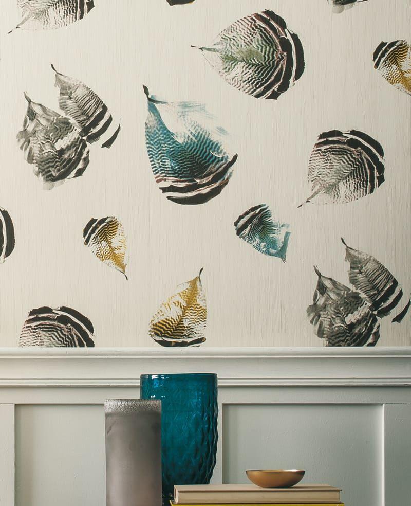 tapete feather hellblau. Black Bedroom Furniture Sets. Home Design Ideas