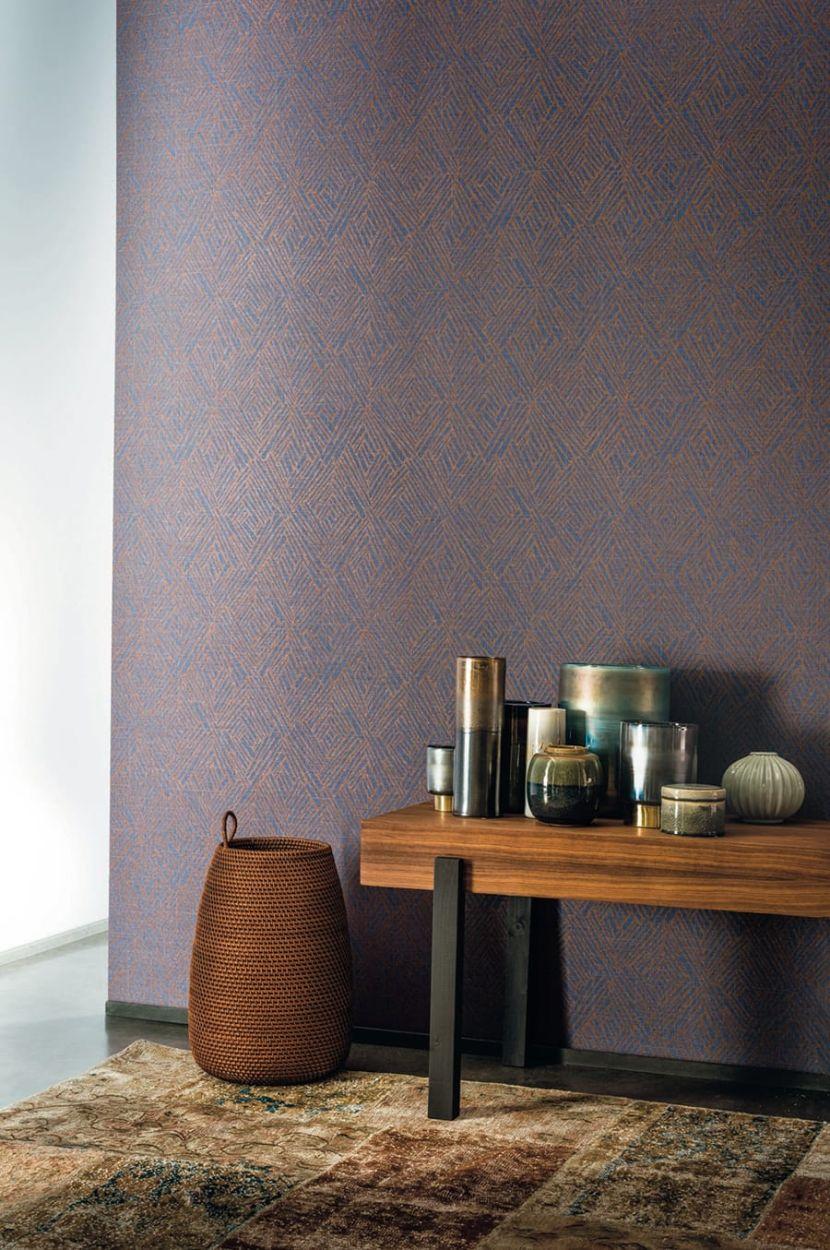 tapete garance blau von texdecor. Black Bedroom Furniture Sets. Home Design Ideas