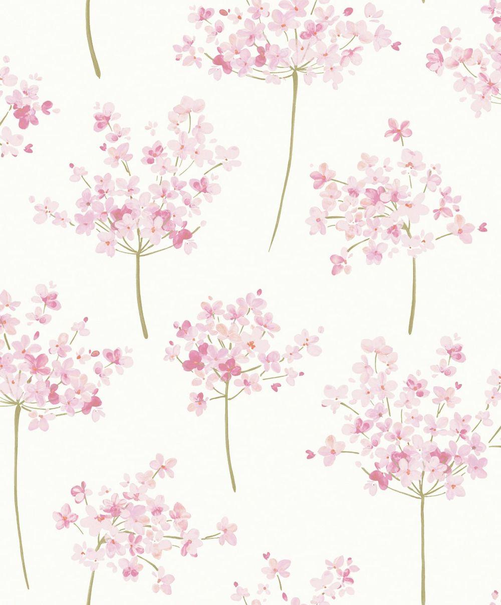 Tapete jolie rosa von casadeco aus der kollektion florescence for Rosa tapete