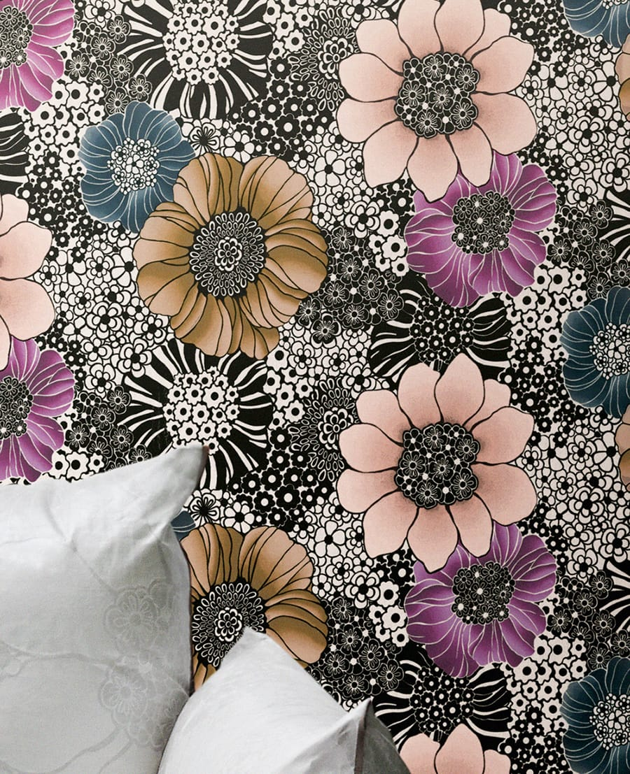 opulente anemonen florale tapete kayleigh von missoni home. Black Bedroom Furniture Sets. Home Design Ideas