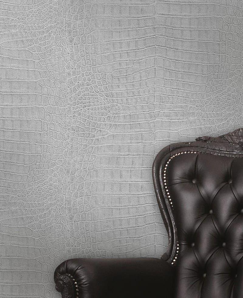 tapete kroko silber  9259 0 - Silber Tapete