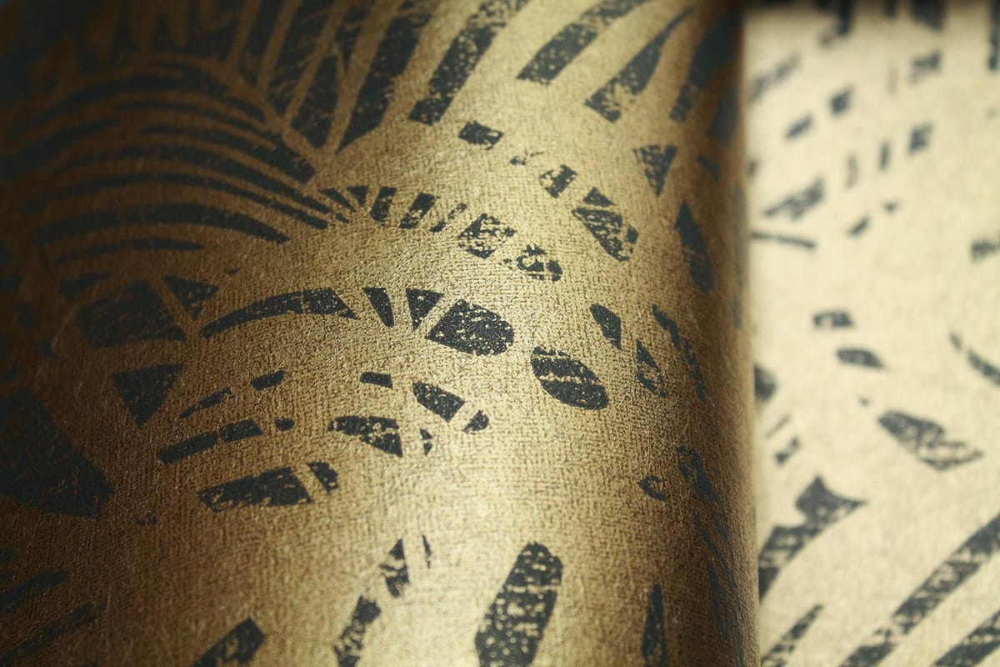 tapete leaves braun von eijffinger. Black Bedroom Furniture Sets. Home Design Ideas
