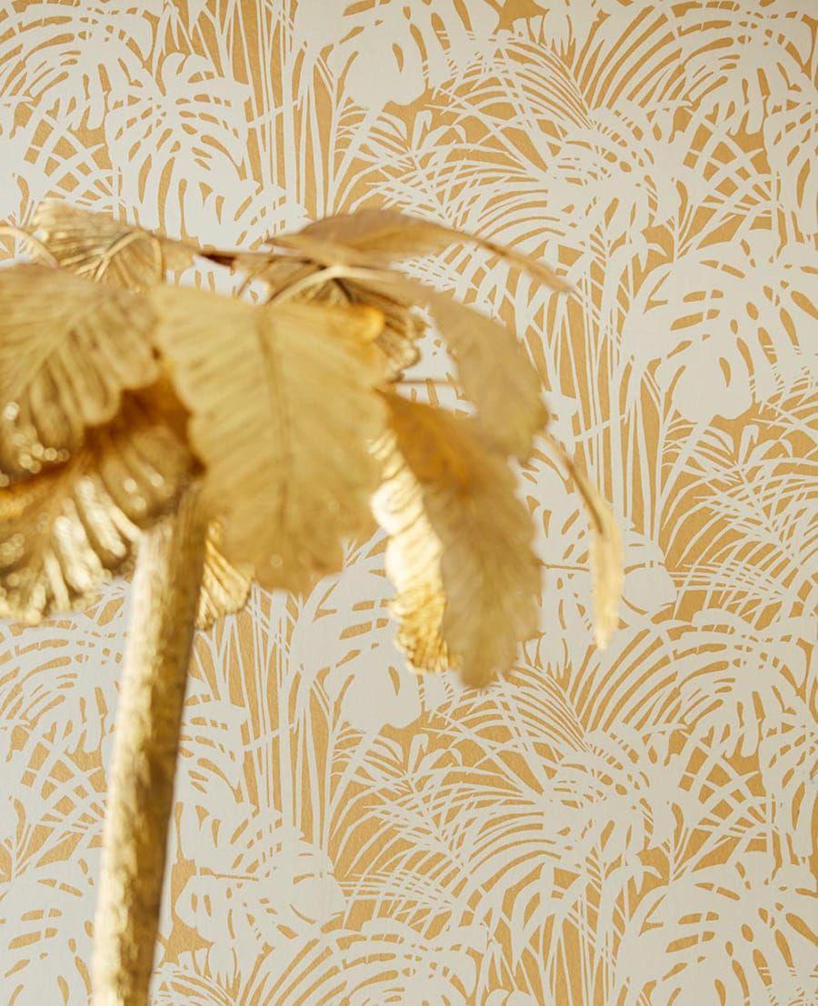 tapete leaves gold von eijffinger. Black Bedroom Furniture Sets. Home Design Ideas