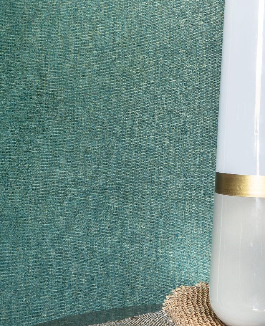 unitapete lindry gr n gold in gl nzender leinenoptik. Black Bedroom Furniture Sets. Home Design Ideas