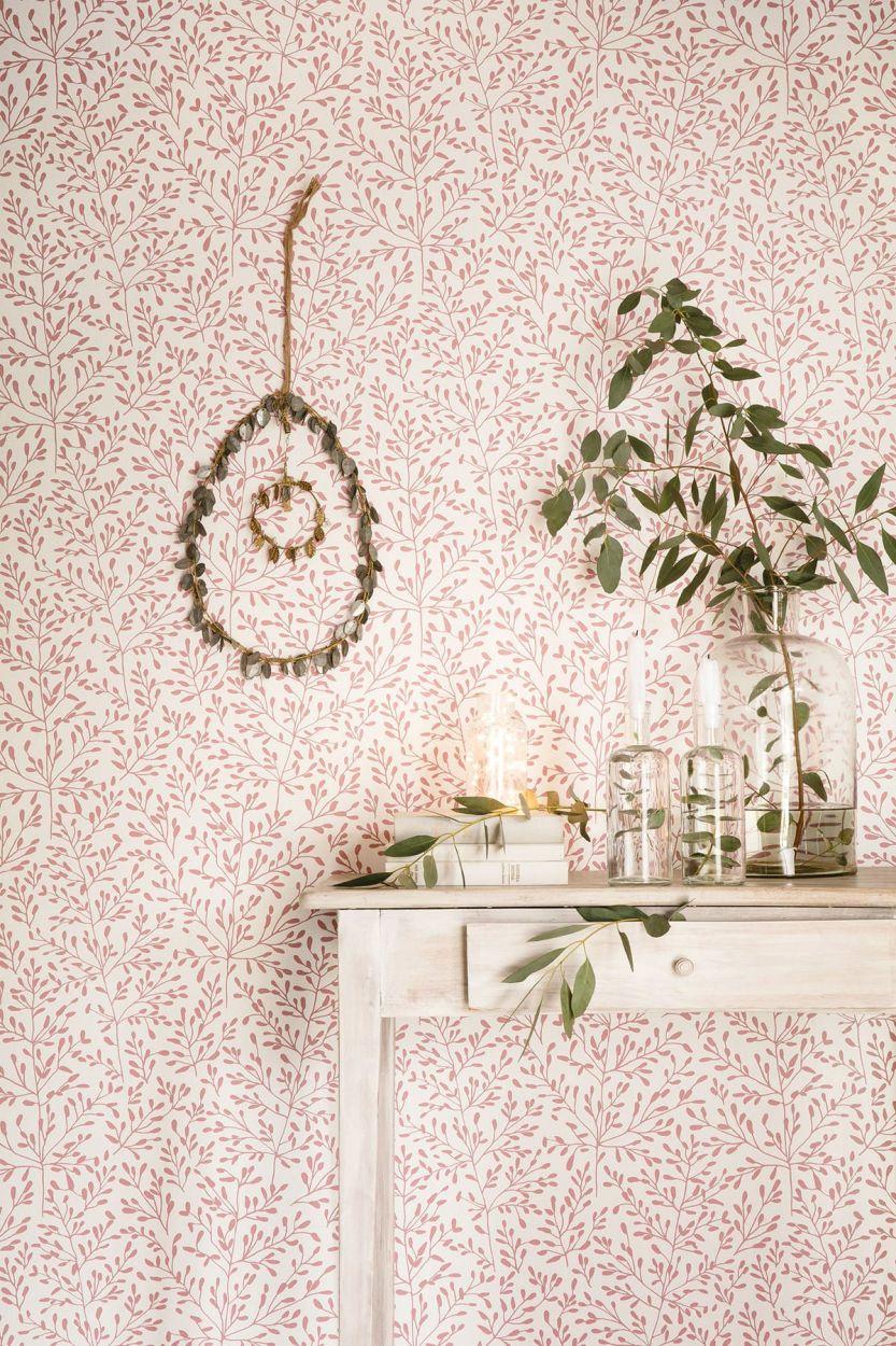 Tapete lorine rosa von caselio aus der kollektion sunny day for Rosa tapete