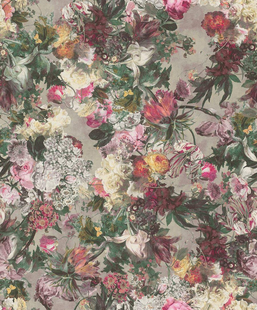 tapete muriell grau  11227 2 - Tapete Floral