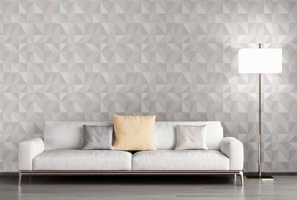 skandinavische designtapete noelia in rosa von as creation. Black Bedroom Furniture Sets. Home Design Ideas