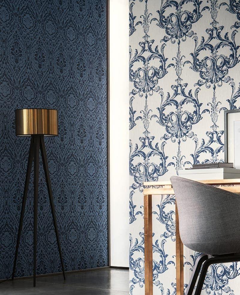 as creation tapete vertou blau. Black Bedroom Furniture Sets. Home Design Ideas