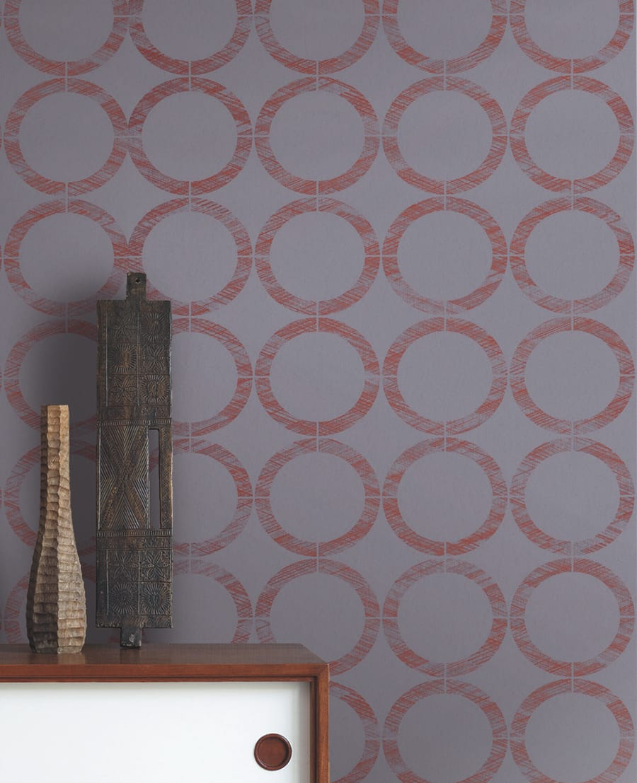 tapete willow orange von casadeco. Black Bedroom Furniture Sets. Home Design Ideas