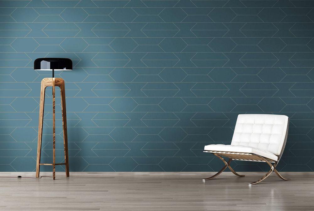 tapete winston blau von as creation. Black Bedroom Furniture Sets. Home Design Ideas