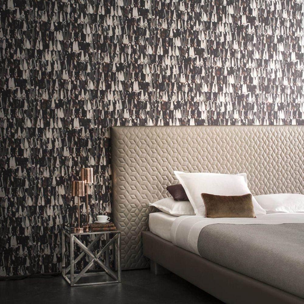 tapete woona braun. Black Bedroom Furniture Sets. Home Design Ideas