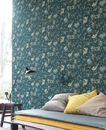 tapete manami t rkis artikel nr nats82137230 von casadeco. Black Bedroom Furniture Sets. Home Design Ideas