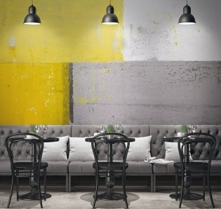 AKTION - Wandbild Leinwand Gelb