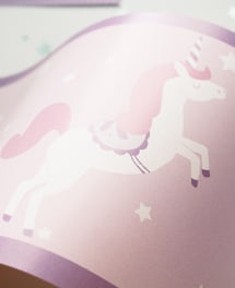 Bordüre Unicorns Rosa